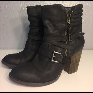 Steve Madden Raleighh Leather Moto Booties